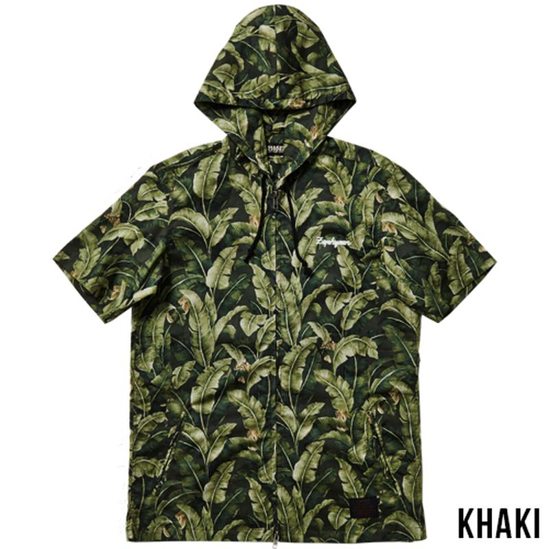 ALOHA HOOD SHIRT S/S -Resolve- / KHAKI