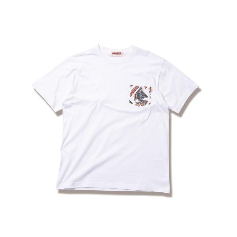 "ANIMALIA Tシャツ ""EAGLE -Pocket S/S"" / WHITE"