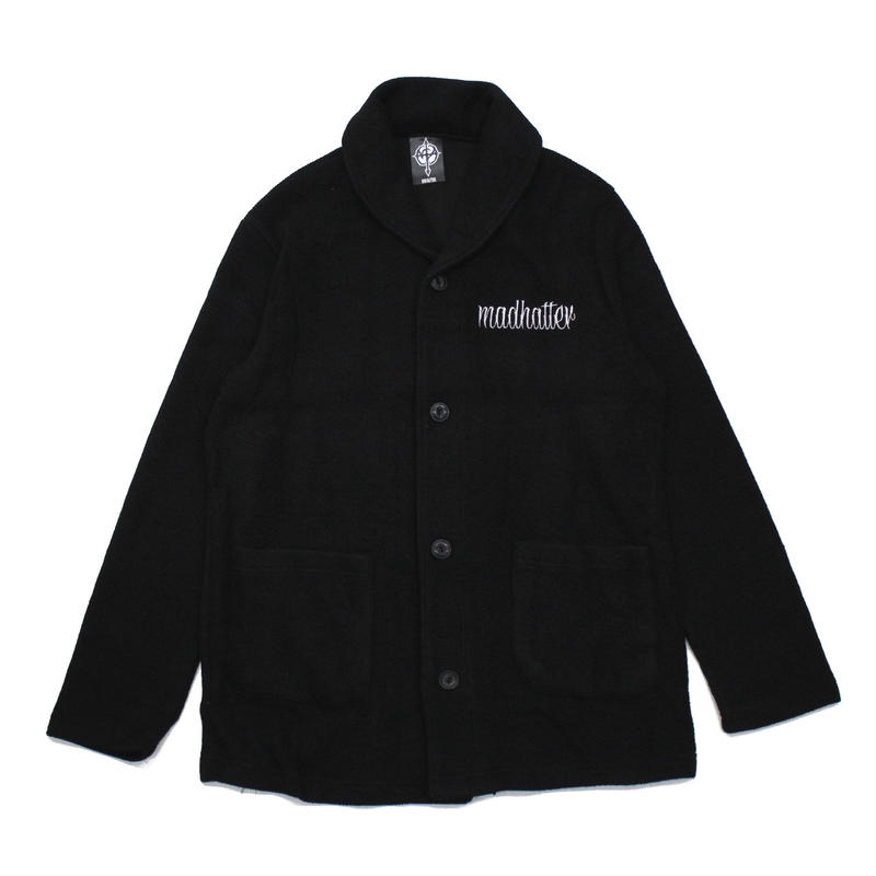 LOGO cardigan / BLACK