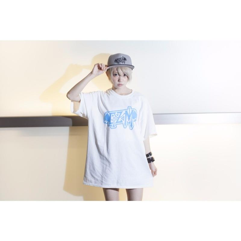 DJ GZM Tee / WHITE-BLUE