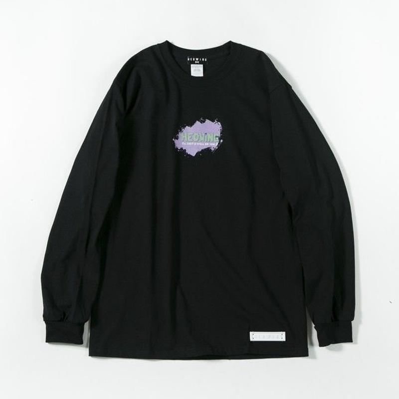 Pastel Ink Long Sleeve T-shirt / BLACK