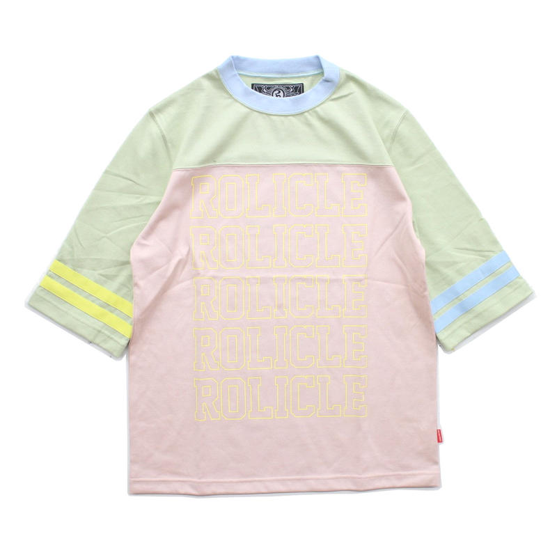 SWEET FOOTBALL TOP / PINK-GREEN
