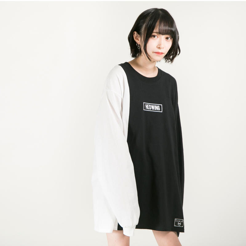 HEDWiNG ロンT Crosscut Longsleeve T-shirt / BLACK