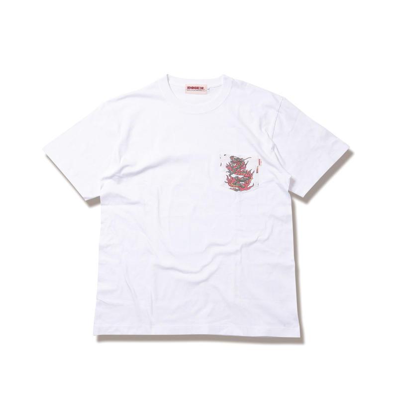 "ANIMALIA Tシャツ ""DRAGON -Pocket S/S"" / WHITE"