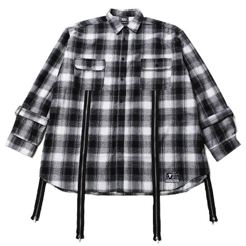 ECHO -Zip Wide Shirts- / BLACK