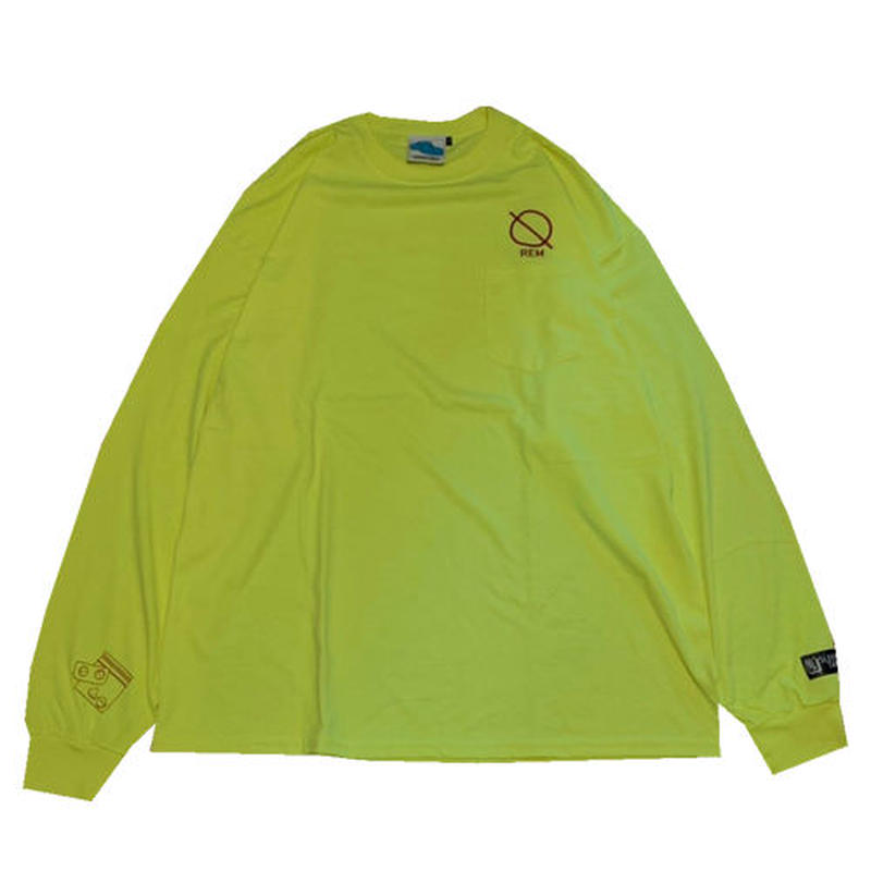 SLEEPING TABLET ロンT REM [ LONG SLEEVE W/POCKET ] / YELLOW
