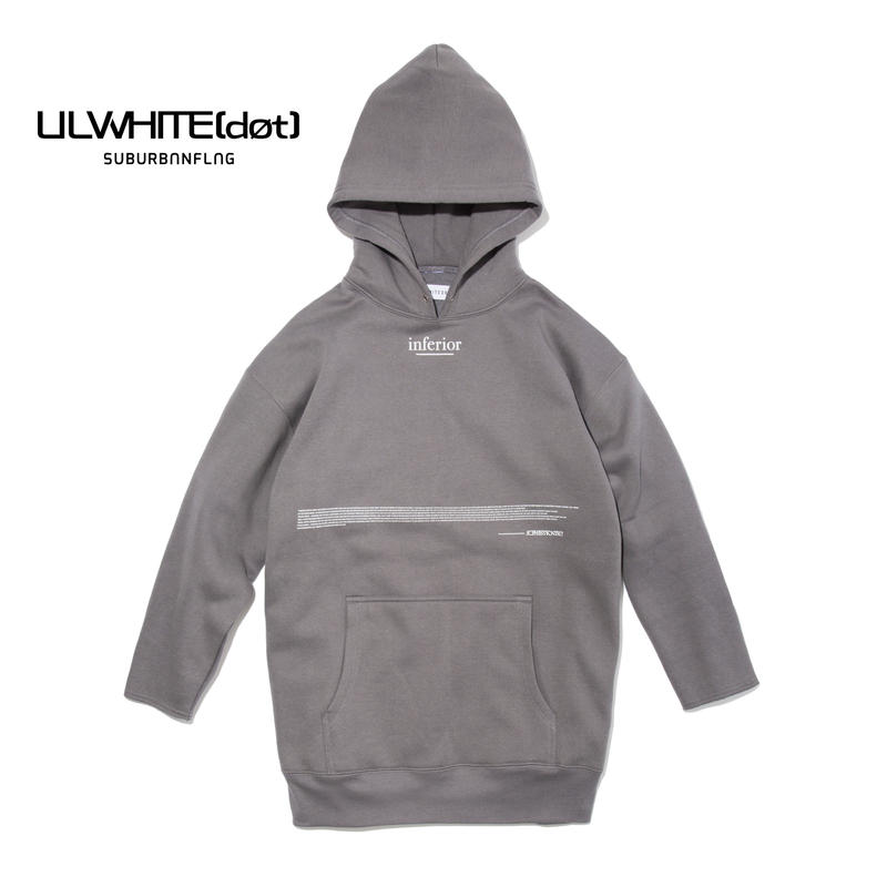 -INFERIOR- Q/S SIDE ZIP HOODIE / GRAY