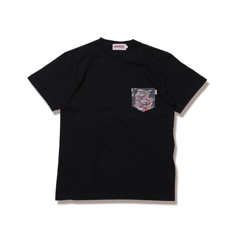 "ANIMALIA Tシャツ ""DRAGON -Pocket S/S"" / BLACK"