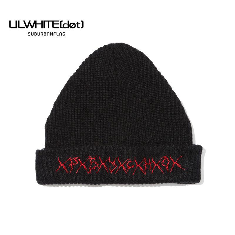 -PSYCHO- KNIT CAP / BLACK-RED