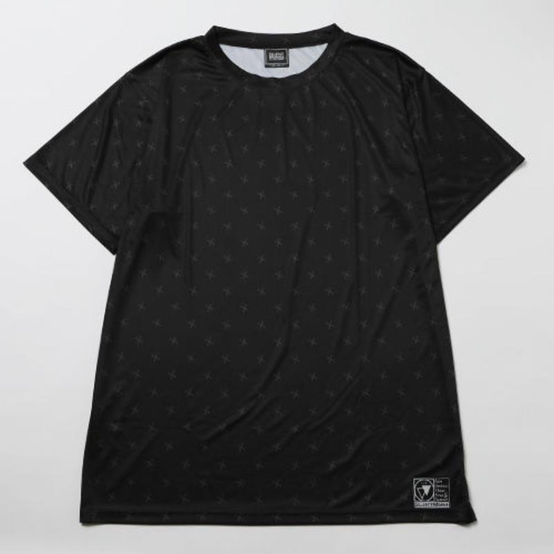 SILLENT Tシャツ SHEARS -Patterned Short Sleeve- / BLACK-BLACK