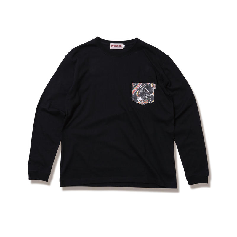 "ANIMALIA ロンT ""EAGLE -Pocket L/S"" / BLACK"