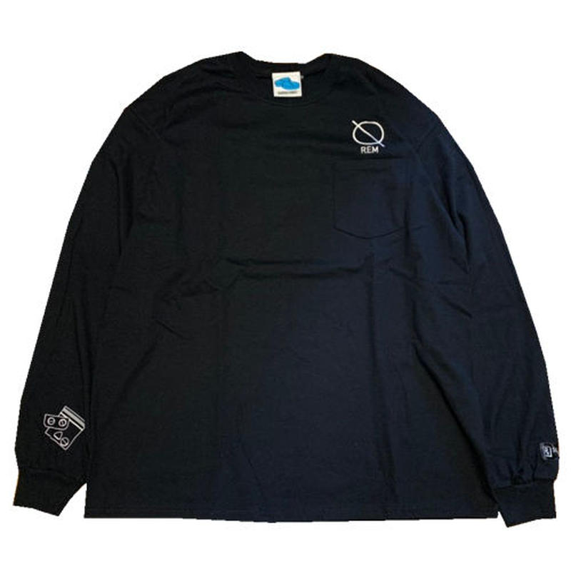 SLEEPING TABLET ロンT REM [ LONG SLEEVE W/POCKET ] / BLACK
