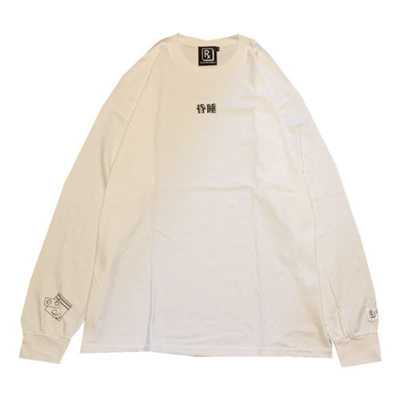 SLEEPING TABLET ロンT COMA [ LONG SLEEVE ] / WHITE