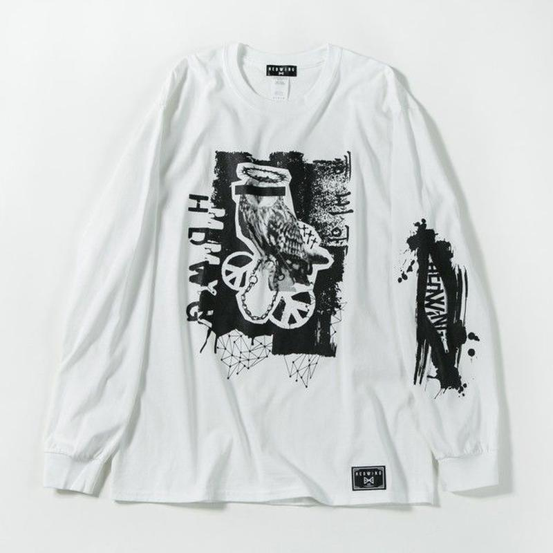 Bad Owl Long Sleeve T-shirt / WHITE