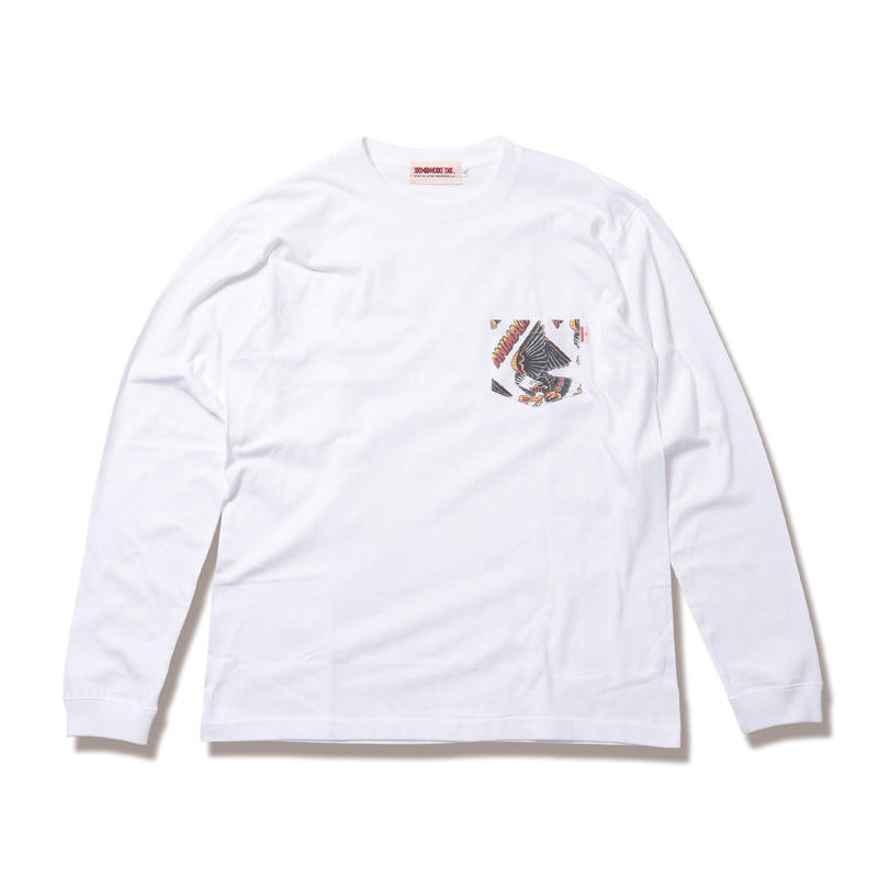 "ANIMALIA ロンT ""EAGLE -Pocket L/S"" / WHITE"