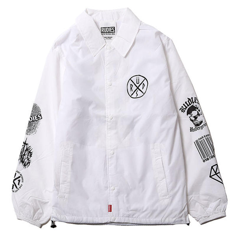 CONFUSE COACH JACKET / WHITE