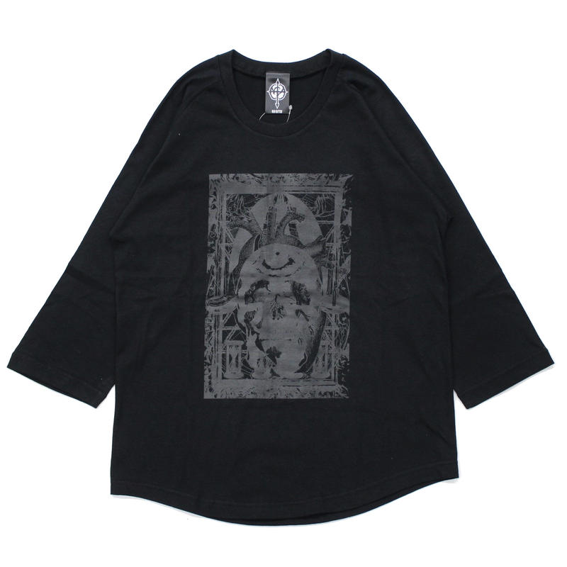 MULTIPLE 7/s tee / BLACK-BLACK