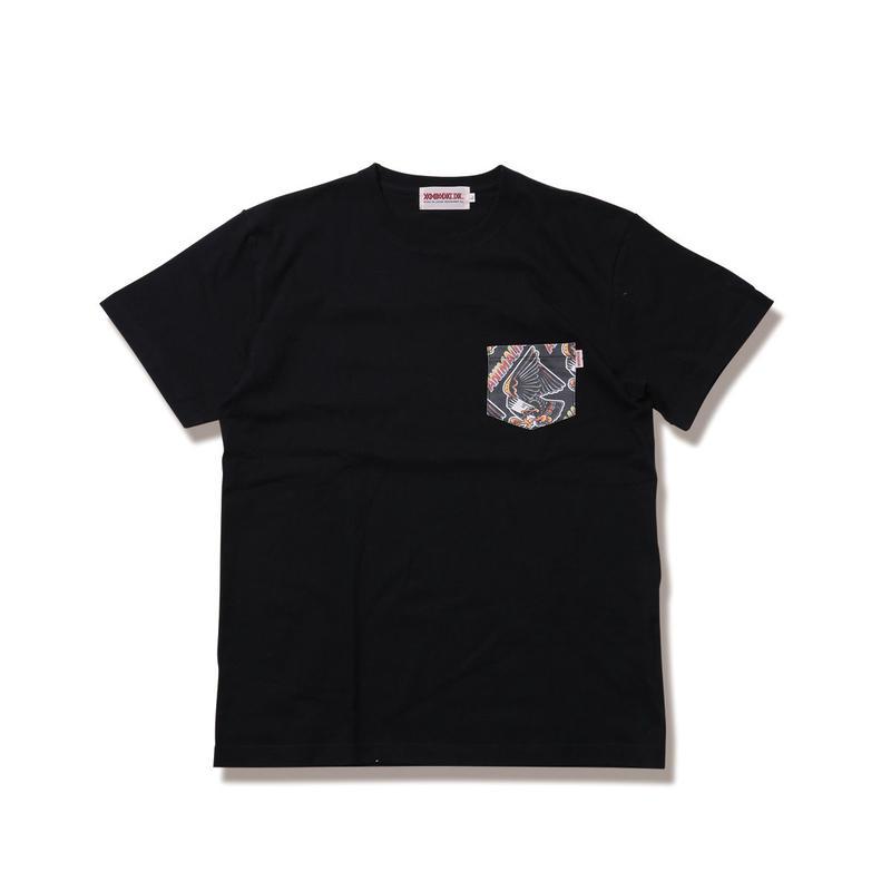 "ANIMALIA Tシャツ ""EAGLE -Pocket S/S"" / BLACK"
