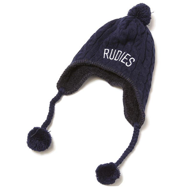 """RUDIE'S ニットキャップ """"PHAT BONBON CAP"""" / NAVY"""