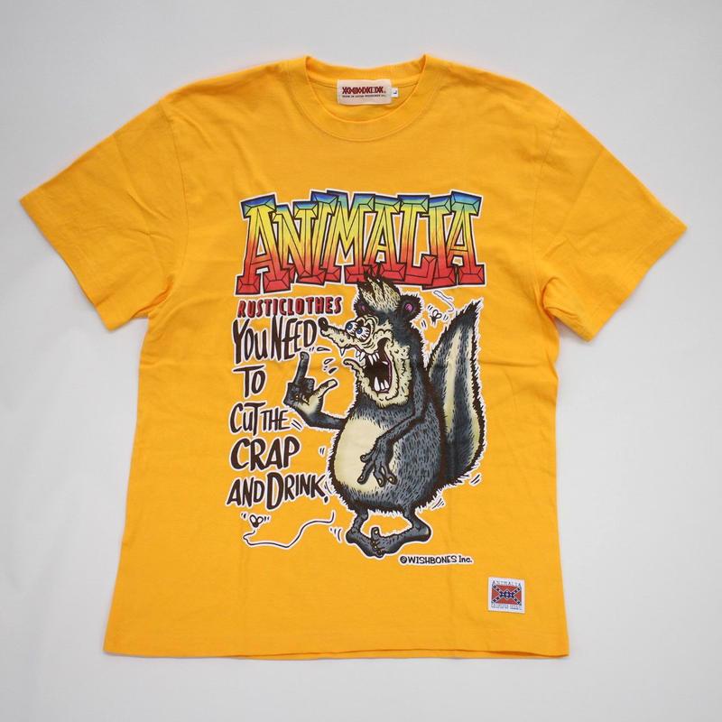 "ANIMALIA Tシャツ ""SKUNK FINK S/S"" / GOLD YELLOW"