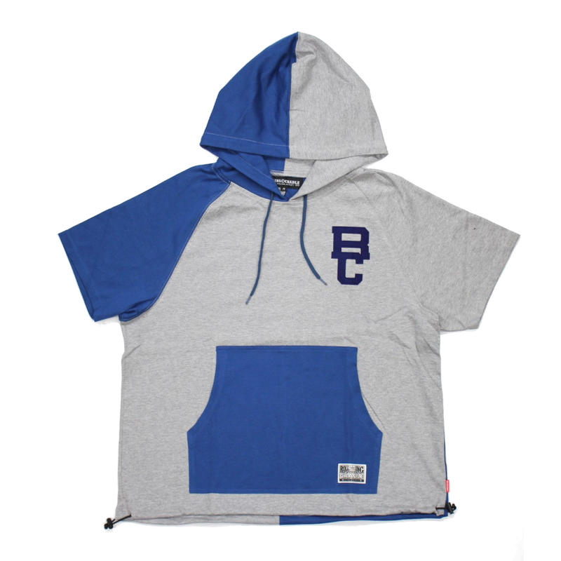 TWO FACE HOODIE / GRAY-BLUE