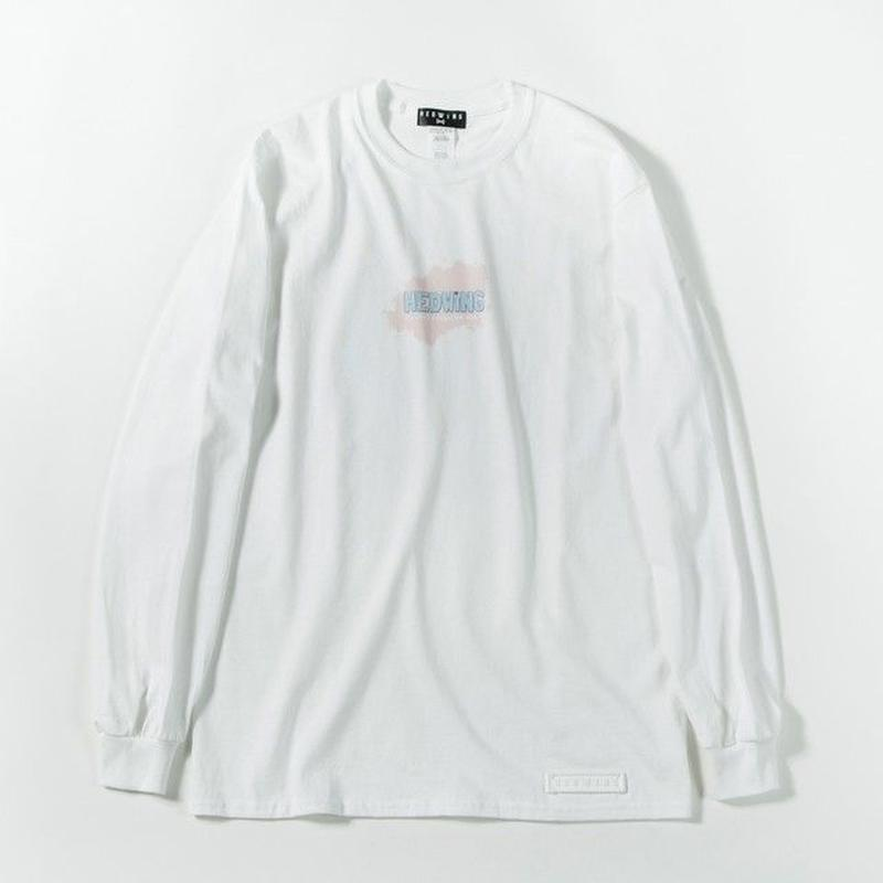 Pastel Ink Long Sleeve T-shirt / WHITE
