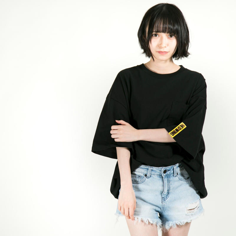 HEDWiNG Tシャツ Drawstring T-shirt / BLACK