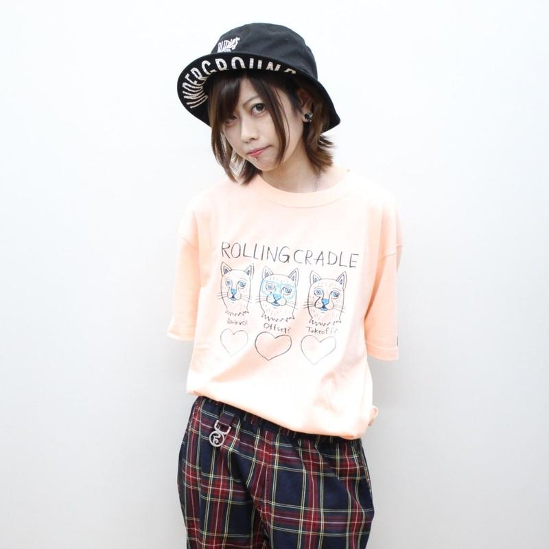 "ROLLING CRADLE Tシャツ ""MIGOS CAT TEE"" / Apricot"