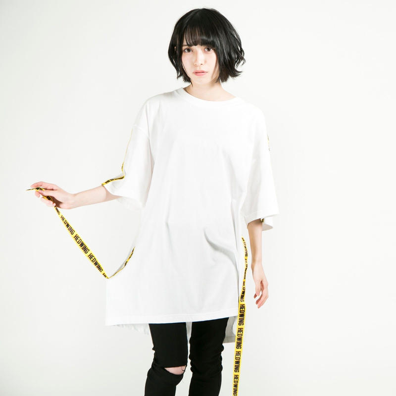 HEDWiNG Tシャツ Warning Tape T-shirt / WHITE