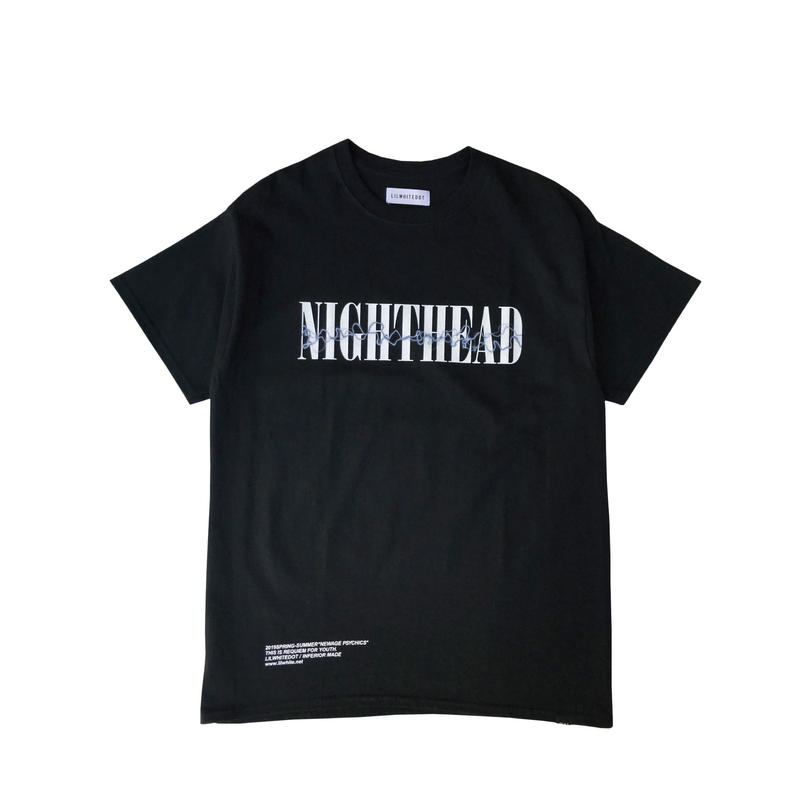"LILWHITE(dot) Tシャツ ""NIGHTHEAD"" TEE / BLACK"