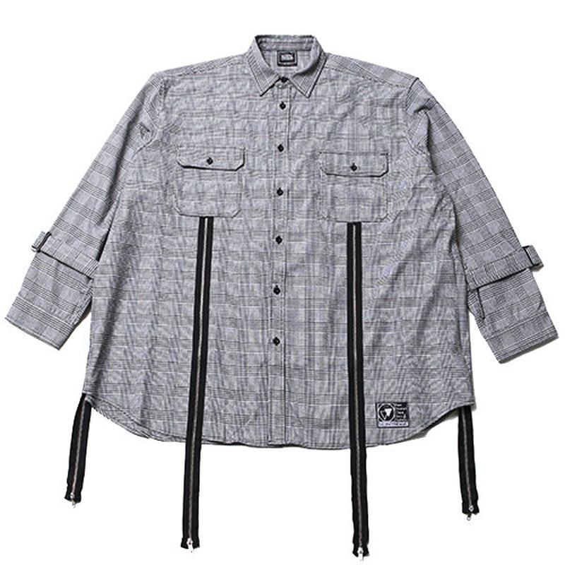 ECHO -Zip Wide Shirts- / GRAY