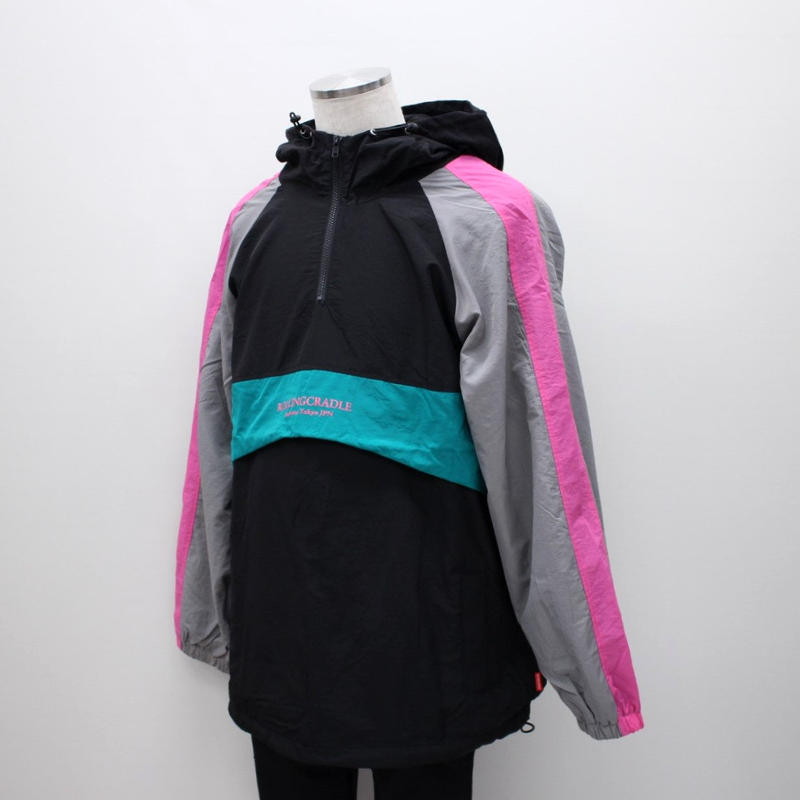 RC NYLON ANORAK / BLACK-GRAY
