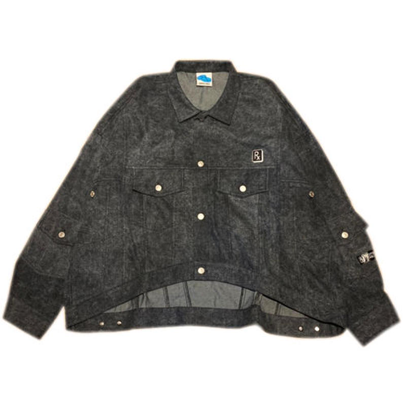 SLEEPING TABLET デニムジャケット CHIC [ FORMED DENIM SHIRTS ] / BLACK
