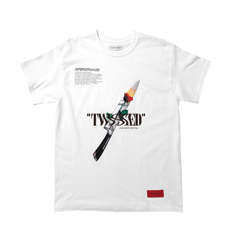 -TWISTED- TEE / WHITE