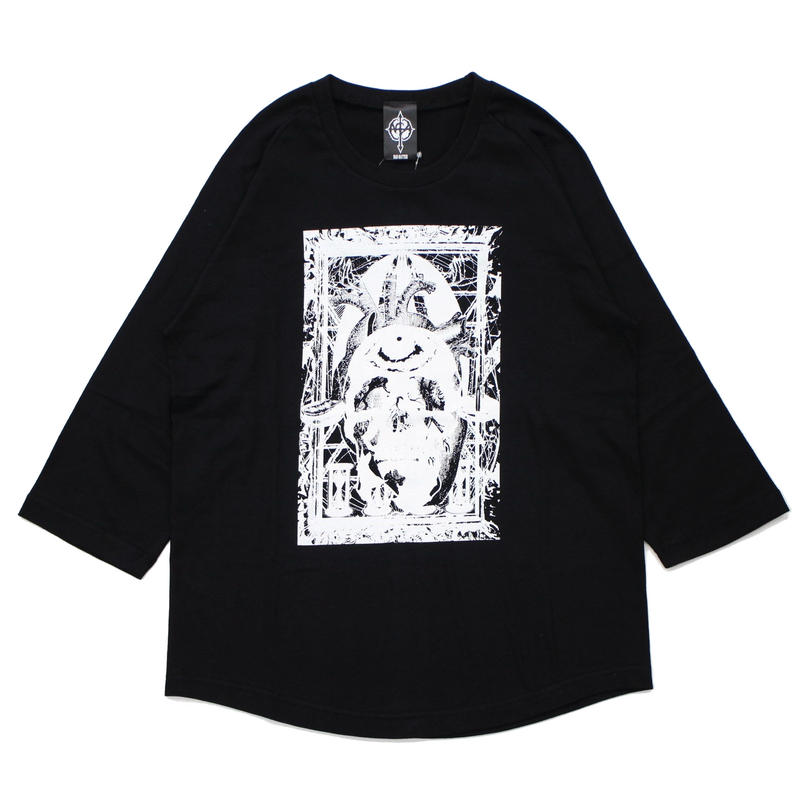 MULTIPLE 7/s tee / BLACK