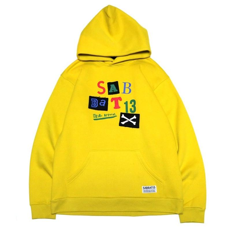 PATCH HOODIE / YELLOW