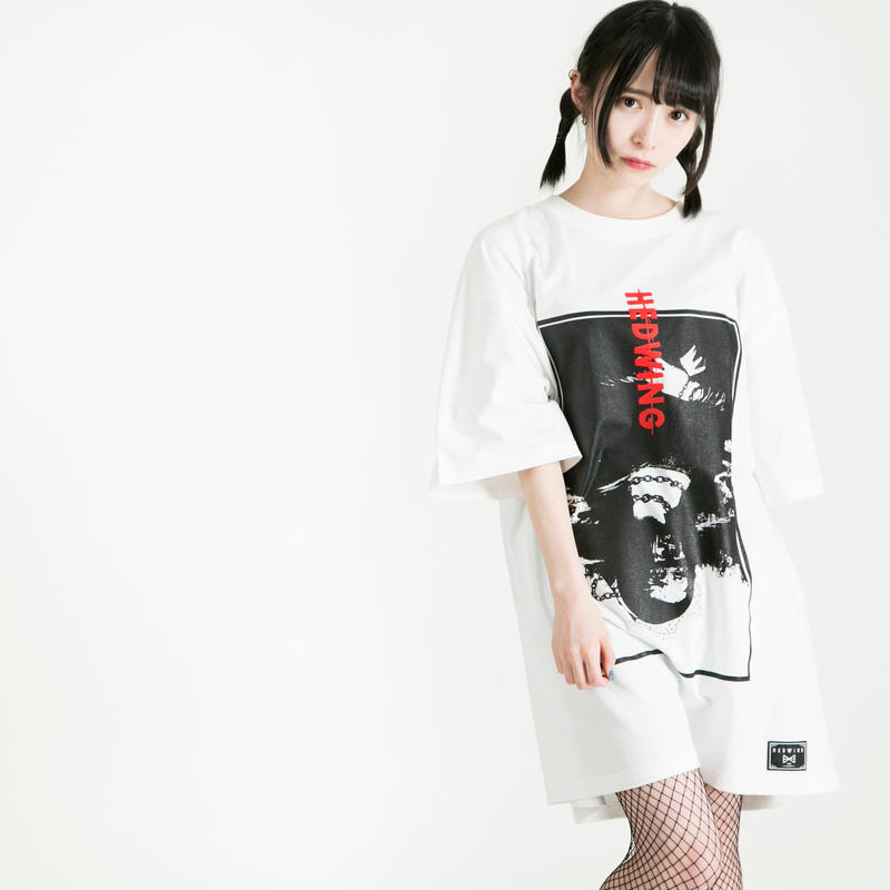 "HEDWiNG Tシャツ ""Crazy-Monna-Crazy T-shirt"" / WHITE"