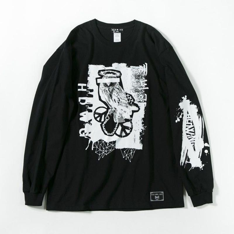 Bad Owl Long Sleeve T-shirt / BLACK