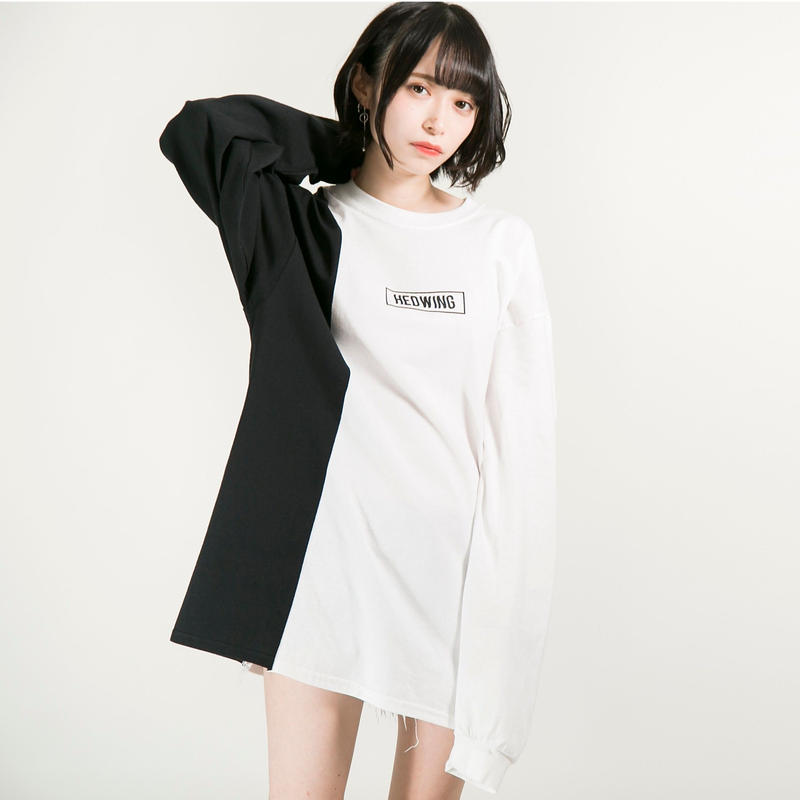 HEDWiNG ロンT Crosscut Longsleeve T-shirt / WHITE