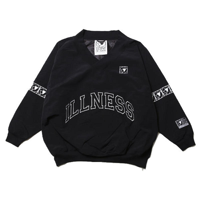 VEXED -Nylon Pullover- / BLACK-BLACK
