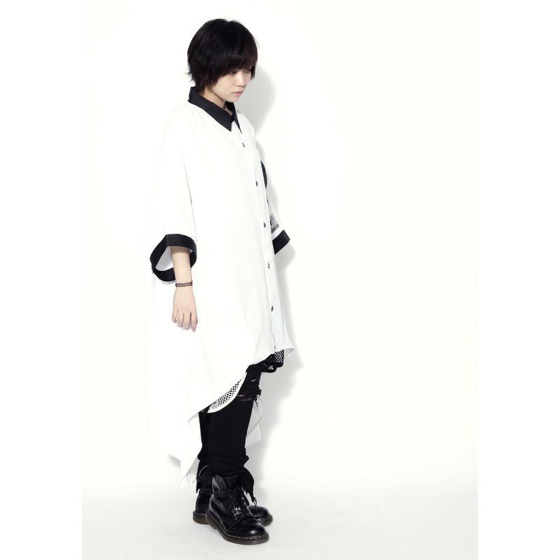 SILLENT シャツ LAX -Hemline Half Sleeve Shirts- / WHITE