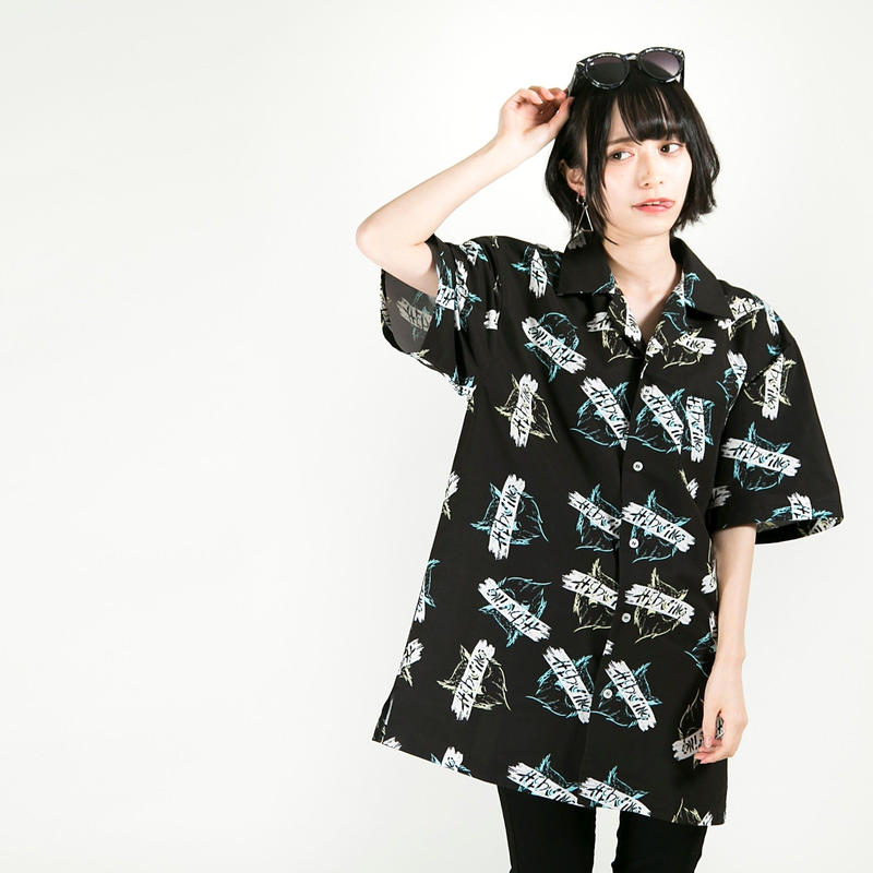 "HEDWiNG シャツ ""Owl Totalhandle Shirt"" / BLACK"