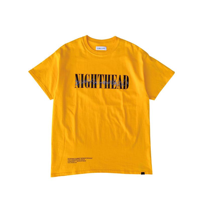 "LILWHITE(dot) Tシャツ ""NIGHTHEAD"" TEE / GOLD"
