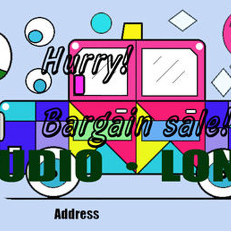 Post card for the bargain sale.集客アップポストカードJPEG002