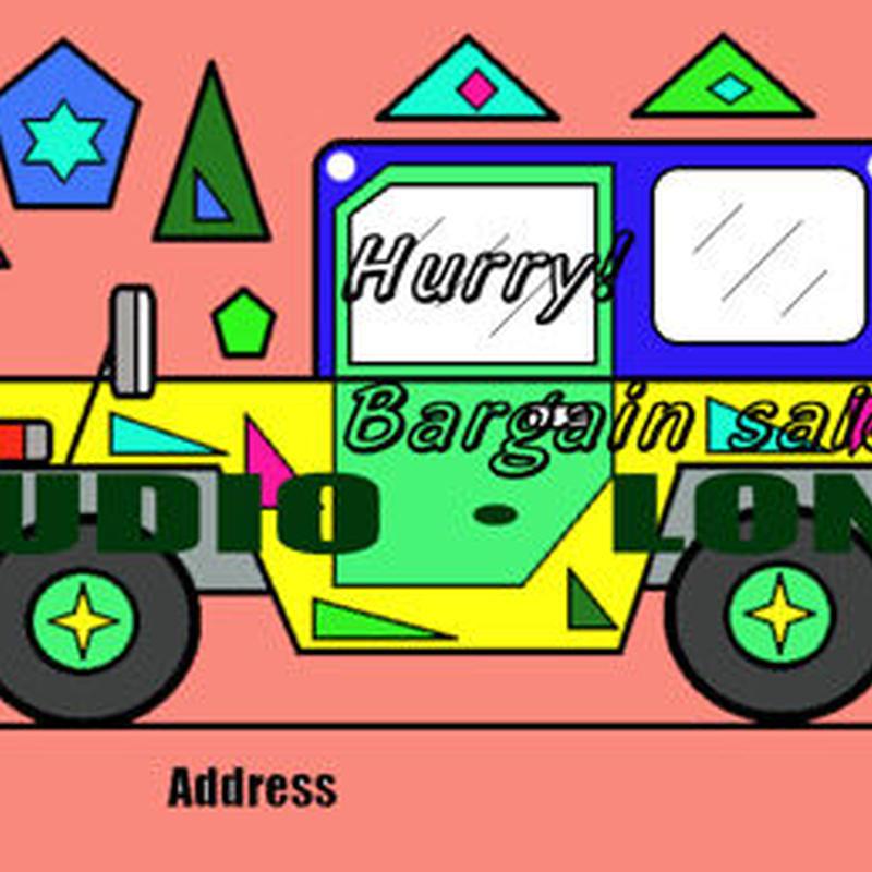 Post card for the bargain sale.集客アップポストカードJPEG010