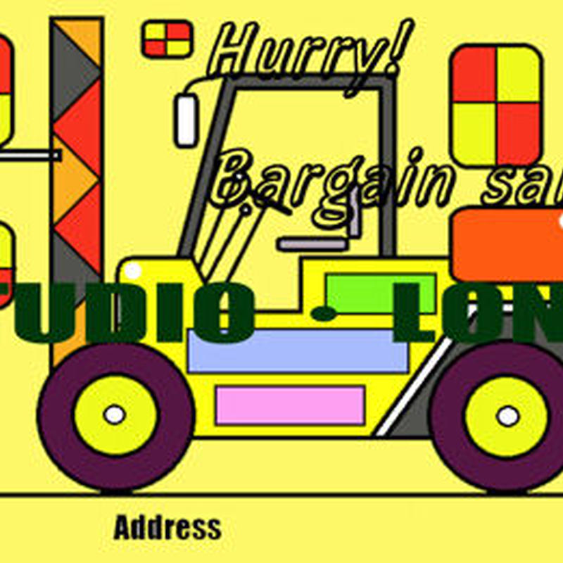 Post card for the bargain sale.集客アップポストカードJPEG004