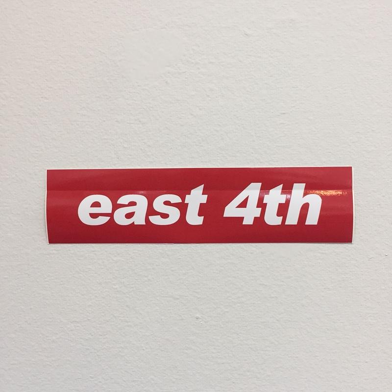 EAST 4th Skate STICKER RED