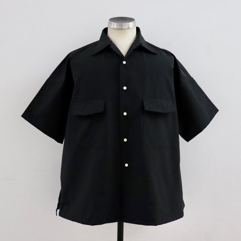 UNITUS(ユナイタス) SS19 Open Collar Big Shirt Black【UTSSS19-S08】(N)