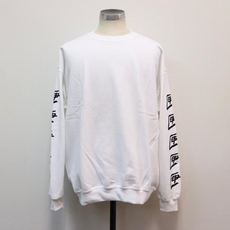 TEN BOX(テンボックス) R TENBOX SLEEVEPRINT SWEAT WHITE