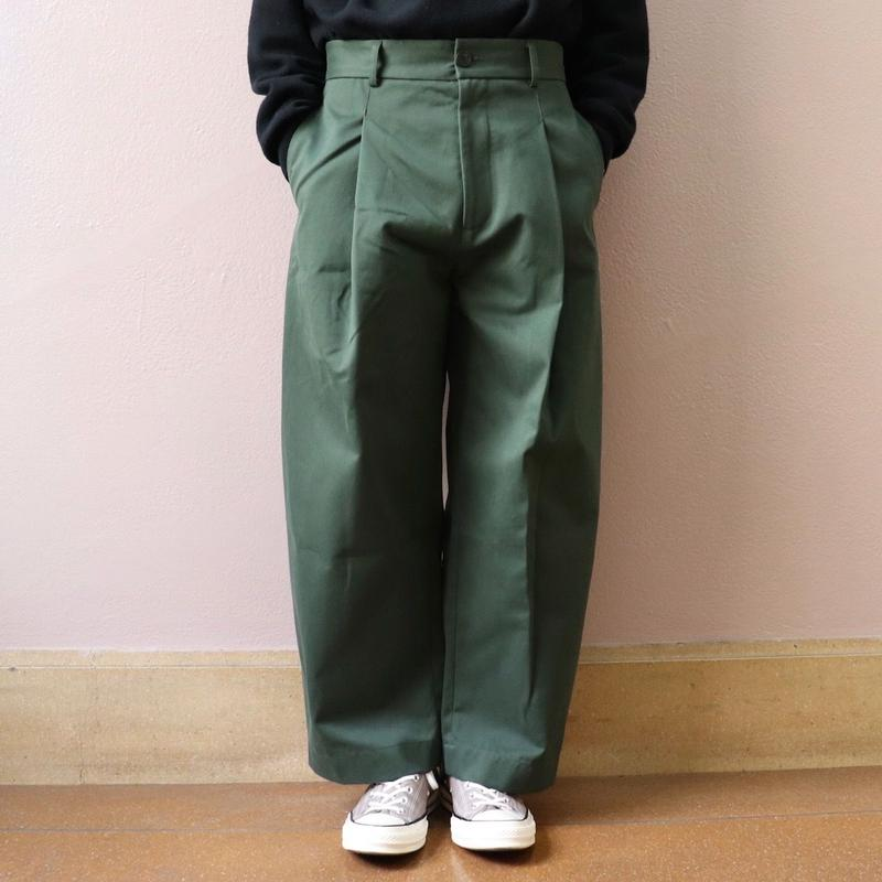 STUDIO NICHOLSON スタジオニコルソン BRIDGES  PANT OLIVE GREEN【SN-132】(N)